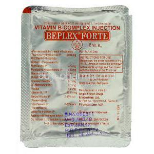 Beplex Forte, Vitamin B-Complex Injection Packaging