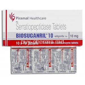Biosuganril, Serratiopeptidase 10 Mg Tablet (Piramal Healthcare)