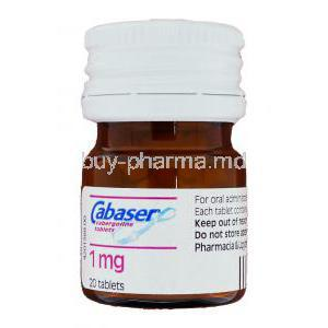 Cabaser Cabergoline 1 mg bottle