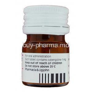 Cabaser, Cabergoline 1 mg bottle information