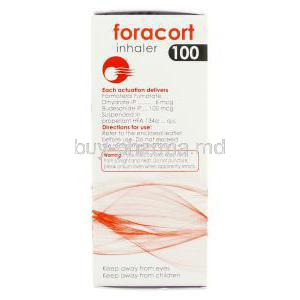 Foracort, Generic  Symbicort, Formoterol Fumarate 6 mcg/ Budesonide 100 mcg Inhaler box composition