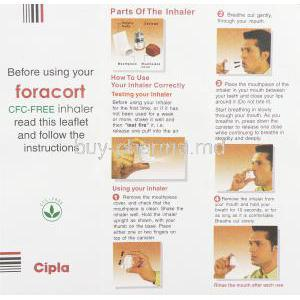 Foracort, Generic  Symbicort, Formoterol Fumarate / Budesonide  Inhaler information sheet 3