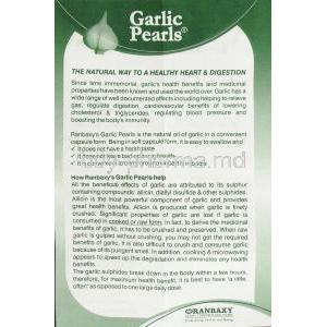 Garlic Pearls information sheet 1