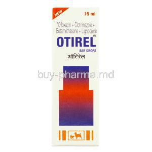 Otirel, Ofloxacin/ Clotrimazole/ Beclomethasone /Lignocaine Ear Drops box
