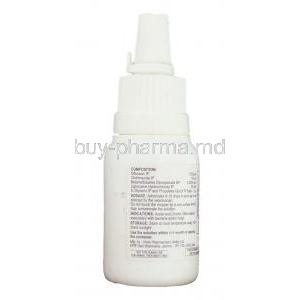 Otirel, Ofloxacin/ Clotrimazole/ Beclomethasone /Lignocaine Ear Drops bottle information