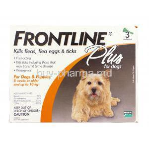 Frontline Plus for Dog (up to 10 kg) 0.67 ml applicator