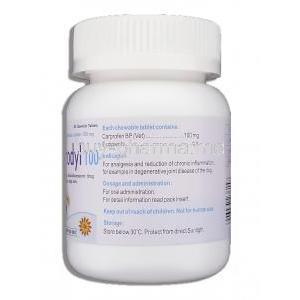 Generic Rimadyl, Carprofen 100 mg container information