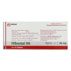 Febuxostat 80 mg manufacturer information