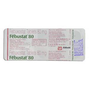 Febuxostat 80 mg packaging