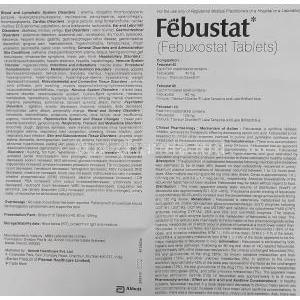 Febuxostat 80 mg information sheet 1