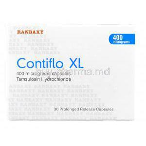 Contiflo XL, Generic Flomax, Tamsulosin 400 mg XL box