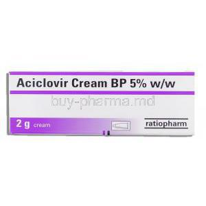Aciclovir 5% cream box