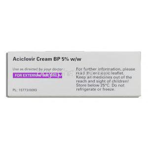 Aciclovir 5% cream (External use)