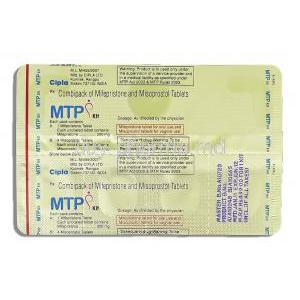 MTP Kit, Mifepristone 200 mg/ Misoprostol 200 mcg packaging