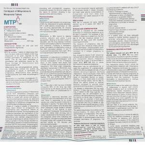 MTP Kit, Mifepristone 200 mg/ Misoprostol 200 mcg information sheet 1