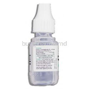 Cromal , Generic  Intal Eye Drop, Sodium Cromoglycate/Benzalkonium bottle information