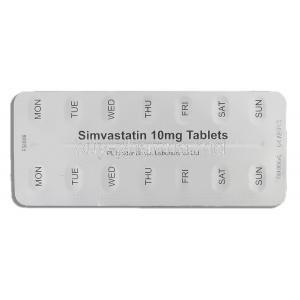 Simvastatin Tablets, Generic  Zocor, Simvastatin 10mg Tablet Strip