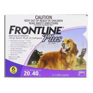 Frontline Plus for Dog 6X2.68 ml (Dogs 20-40 kg)