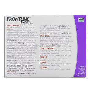 Frontline Plus for Dog 6X2.68 ml (Dogs 20-40 kg) box information