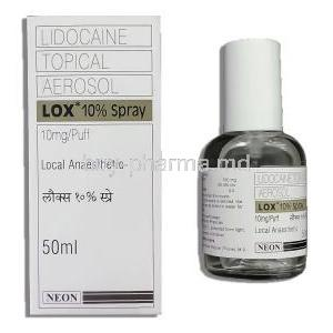 Lidocaine Spray