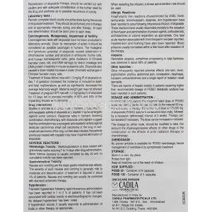 Posid, Etoposide  50 mg information sheet 2