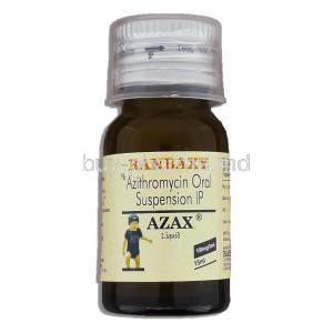 Azax Liquid, Generic Zithromax, Azithromycin Oral 15ml Suspension, 100mg/5ml, bottle