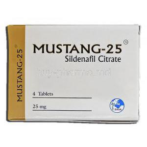Mustang-25, Sildenafil Citrate 25mg Box