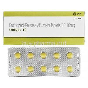 Urirel, Alfuzosin box and tablets