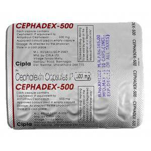 Cephadex, Cephalexin 500mg Strip Description