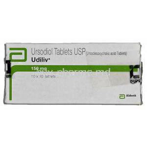 Udiliv, 150mg, Ursodiol, Tablet, Box