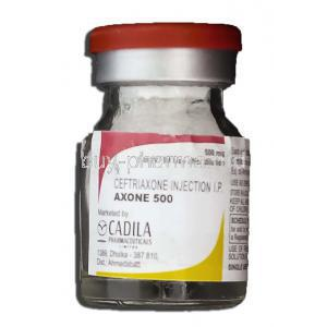 Axone 500, Generic Rocephin, Ceftriaxone Sodium 500mg Injection, Vial bottle