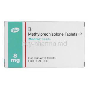 Medrol, Branded Medrol, Methylprednisolone 8mg, Box