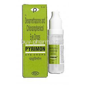 Pyrimon,  Chloramphenicol/ Dexamethasone 1% w/v/ 0.1% W/v 5 Ml Eye Drops (FDC)