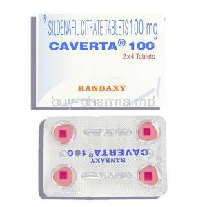 Caverta  Sildenafil Citrate 100mg Tablet (Ranbaxy)