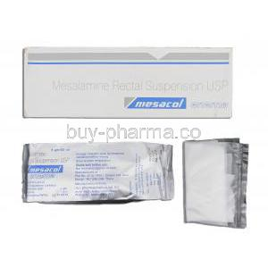 Mesacol, Generic  Pentasa Enema,  Mesalamine 4gm/60ml Enema 60ml (Sun Pharma)