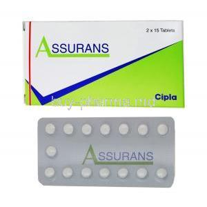 Assurans, Generic Revatio, Sildenafil 20 mg Tablet (Cipla) Box, sheet