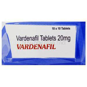 Vardenafil box close up