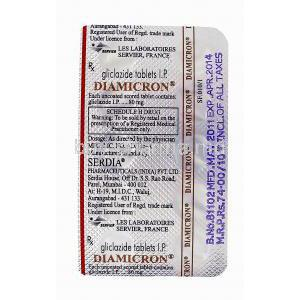 Diamicron 80, Gliclazide 80mg blister pack information