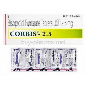 Corbis, Bisoprolol 2.5mg box and tablets