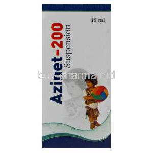 Azinet-200, Generic Zithromax, Azithromycin Oral Suspension 200mg per 5ml 15ml Box