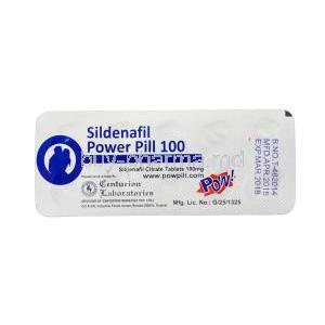 POW! Sildenafil Power Pill 100, Sildenafil 100mg Tablet Strip Manufacturer
