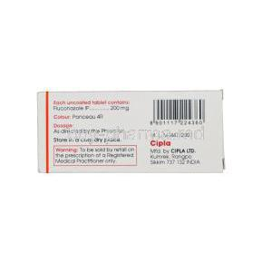 Forcan-200, Generic Diflucan, Fluconazole 200mg Box Information