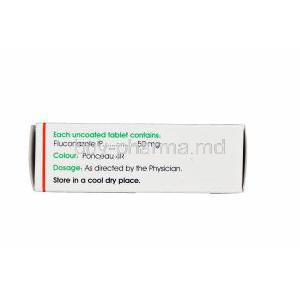 Forcan-50, Generic Diflucan, Fluconazole 50mg Box Information