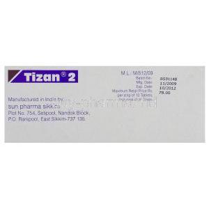 Tizanidine Generic Online