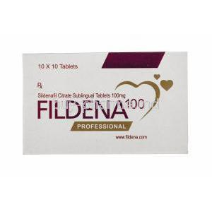 Generic Viagra, Sildenafil Citrate, Fildena 100mg 100tabs, Sublingual tablets professional
