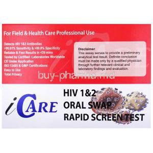 iCare HIV 1&2 Oral Swab Test Kit