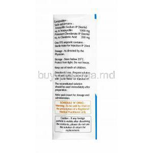 Bilclav Injection, Amoxicillin and Clavulanic Acid directions for use