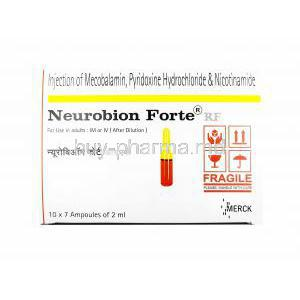 Neurobion RF Forte Injection, Methylcobalamin/ Vitamin B6/ Nicotinamide
