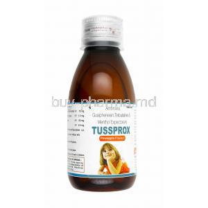 Tussprox Syrup, Ambroxol/ Guaifenesin/ Terbutaline/ Menthol