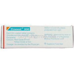 Ursocol, Generic  Ursocol,  Ursodeoxycholic Acid  300 Mg Box Composition